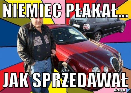 Typowy Mirek sprzedawca samochodów